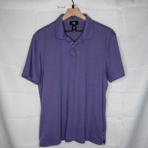 CALVIN KLEIN MENS POLO SHIRT - PURPLE - SIZE LARGE